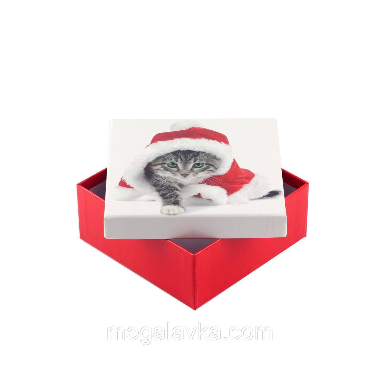 Коробка подарункова ООТВ Santa Cat 14 х 14 х 8 см