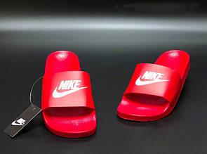 Мужские шлепанцы Nike ,красные