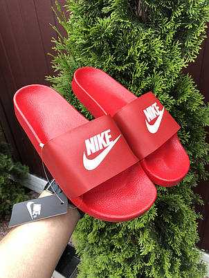 Мужские шлепанцы Nike ,красные, фото 2