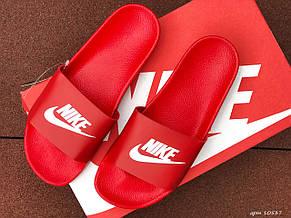 Мужские шлепанцы Nike ,красные, фото 3
