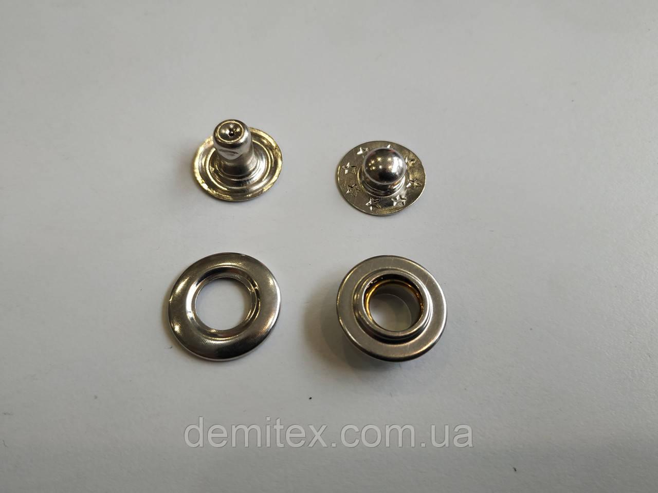 Кнопка Роллерная (15 мм) никель