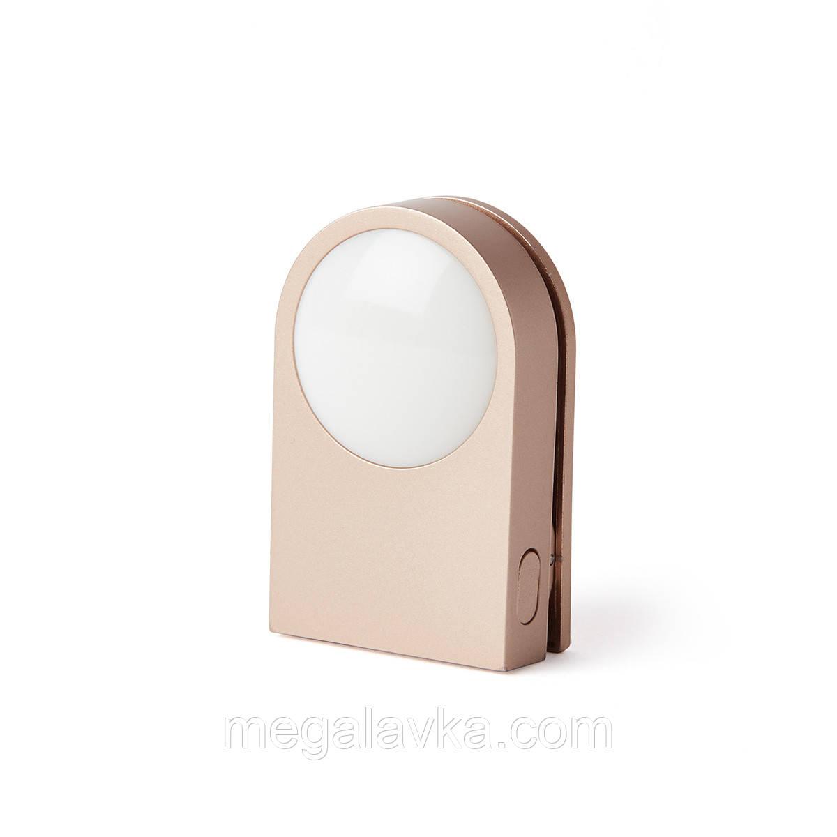 Ліхтарик-прищепка для безпеки на дорозі Lexon LUCIE, золотий