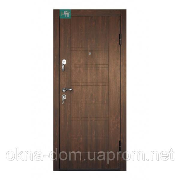 """Вхідні двері """"МІНІСТЕРСТВО ДВЕРЕЙ"""" ПБ-206 Дуб темний"""