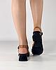 Босоножки женские кожаные коричневые на каблуке с пряжками MORENTO, фото 4