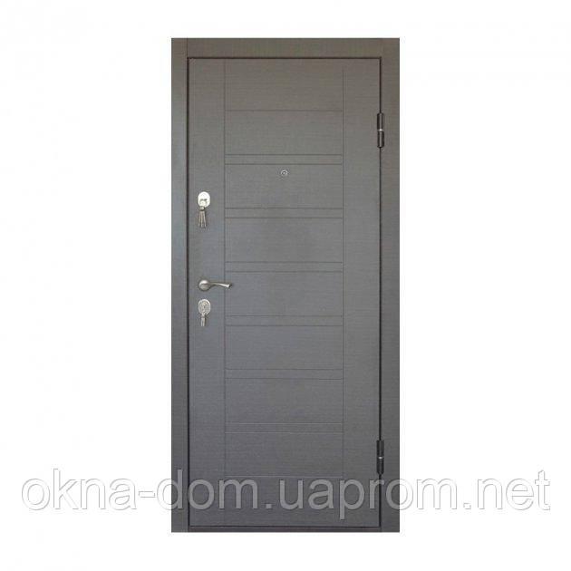 """Вхідні двері """"МІНІСТЕРСТВО ДВЕРЕЙ"""" ПБ-206 Венге сірий"""