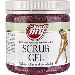 Скраб сахарный My Nail Scrub Gel гранат, 473 мл