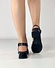 Босоножки женские кожаные чёрные на каблуке с пряжками MORENTO, фото 4