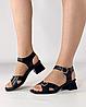 Босоножки женские кожаные чёрные на каблуке с пряжками MORENTO, фото 5