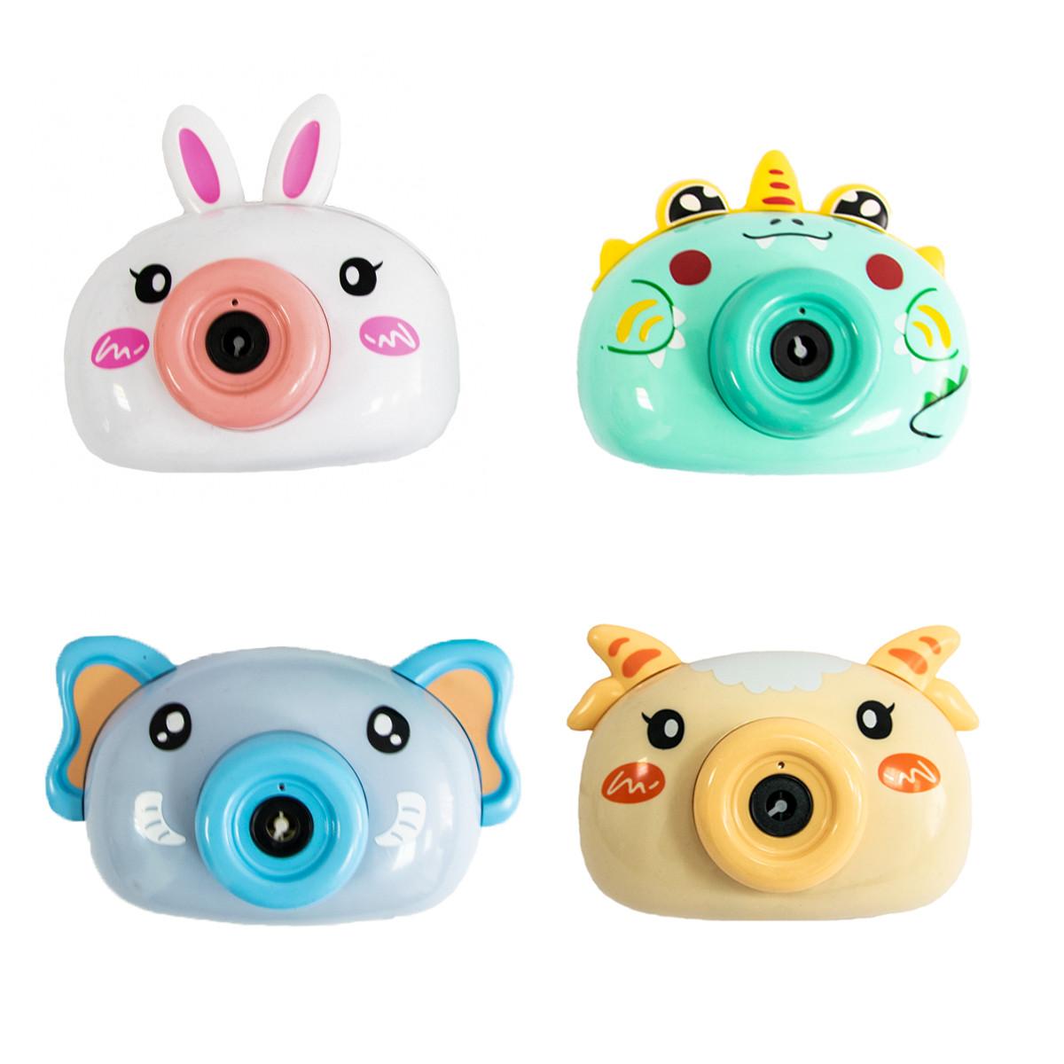 Генератор мильних бульбашок - дитячий фотоапарат Bubble Camera Бірюзовий динозавр | бульбашкомет