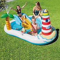 Детский надувной игровой центр  с горкой Веселая Рыбалка Intex 57162