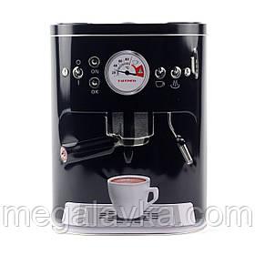 """Коробка для кофе """"Кофе-машина"""", черная"""