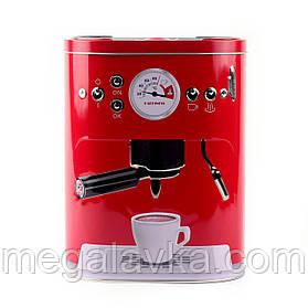 """Коробка для кави """"Кава-машина"""", червона"""