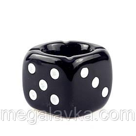 """Пепельница """"Игральный кубик"""", черный"""