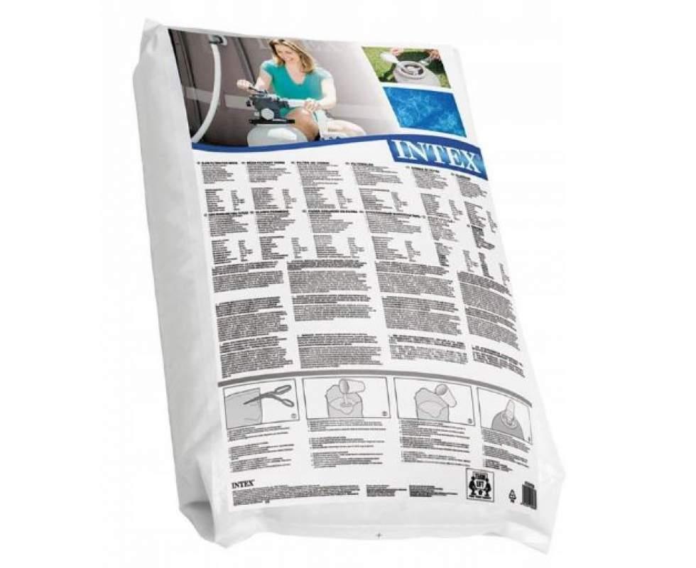 Стеклянный песок Intex 29058, песок стеклянный для фильтров бассейнов. Фракция 0.4-0.8 мм, 25 кг