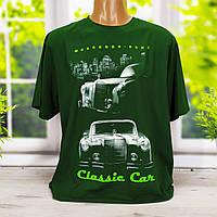 Мужская футболка большого размера зеленая со светящимся рисунком Valimark