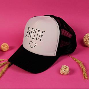 """Кепка на девичник для невесты и подружек """"Bride + Серце"""""""