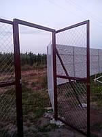 Ворота с сетки рабицы, фото 1