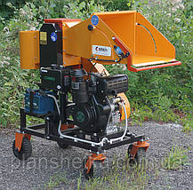 """Измельчитель веток с дизельным двигателем 14 л.с. диаметр веток 120 мм """"Shkiv 2В120Д"""", фото 2"""