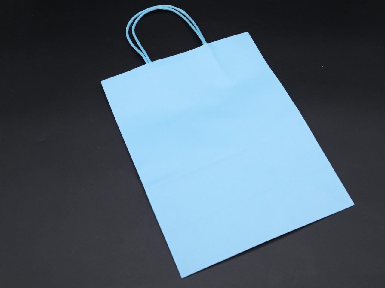 Крафт пакети. Колір голубий. 21х27х11см