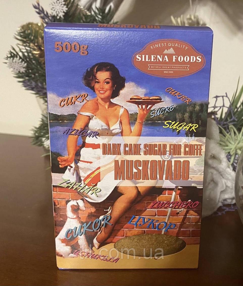 Сахар Muskovado темно-коричневый тростниковый 0,5 кг