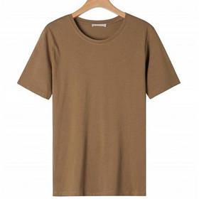Женская однотонная коричневая футболка