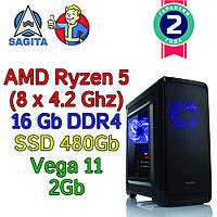 Игровой компьютер / ПК  AMD Ryzen 5 3400G  4 x 4.2GHz / B450 / 16Gb DDR4 / SSD 480Gb / Vega 10  / 500W), фото 1