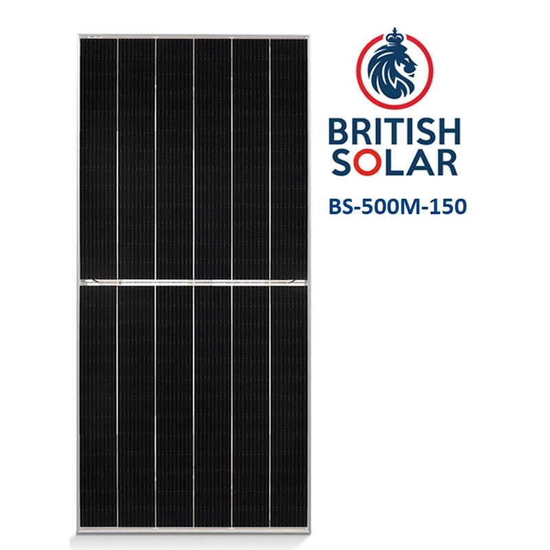 Сонячна панель British Solar BS-500M-150 (сонячна батарея,зелений тариф,сонячна електростанція)