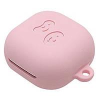 Силиконовый футляр для наушников Samsung Galaxy Buds Live / Buds Pro Розовый
