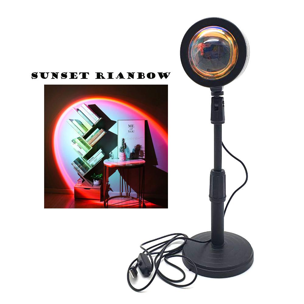Проекционный светильник Sunset Lamp радуга USB светильник проектор свет радуги атмосферная лампа для фото