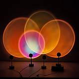 Проекционный светильник Sunset Lamp радуга USB светильник проектор свет радуги атмосферная лампа для фото, фото 6