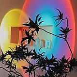 Проекционный светильник Sunset Lamp радуга USB светильник проектор свет радуги атмосферная лампа для фото, фото 7