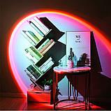 Проекционный светильник Sunset Lamp радуга USB светильник проектор свет радуги атмосферная лампа для фото, фото 8