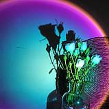 Проекционный светильник Sunset Lamp радуга USB светильник проектор свет радуги атмосферная лампа для фото, фото 9