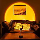 Проекционный светильник Sunset Lamp радуга USB светильник проектор свет радуги атмосферная лампа для фото, фото 10