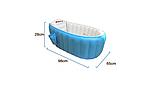 Ванночка надувная синяя  Baby Intime + насос в подарок, фото 3