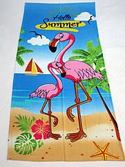 Полотенце пляжное Фламинго