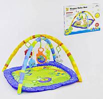 Розвиваючий ігровий музичний килимок D 076 з підвісними іграшками