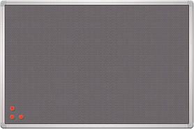 Пробковая серая PinMag (как пробковая) доска с металической сеткой на стену в алюминиевой раме 2х3 PinMag.