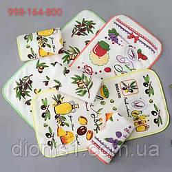 Полотенце кухонное Оливка размер 25х50 20 шт в уп. фибра пушистая