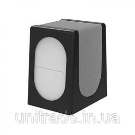 Настільний диспенсер для серветок (чорний-сталевий) Під замовлення