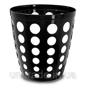 Пластикова корзина офісна (чорна )