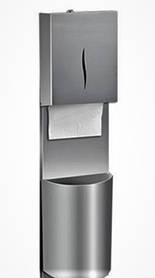 Диспенсер металевий для листових рушників з кошиком