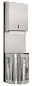 Комбінований металевий диспенсер для листових рушників з кошиком