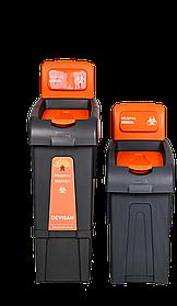 Сортувальна кошик для медичних відходів (маленька) з кришкою FANTOM