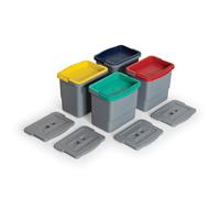 Комплект відер з кольоровими кодуваннями FANTOM