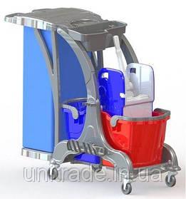 Професійна візок для прибирання ( 2 відділу)