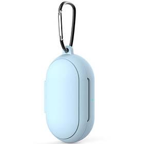 Силіконовий футляр для навушників Samsung Galaxy нирки золото / нирки золото Plus Блакитний