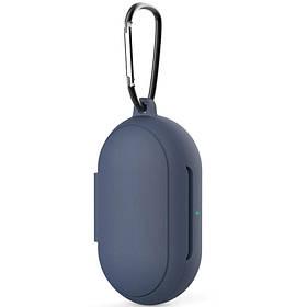 Силіконовий футляр для навушників Samsung Galaxy нирки золото / нирки золото Plus Темно-синій