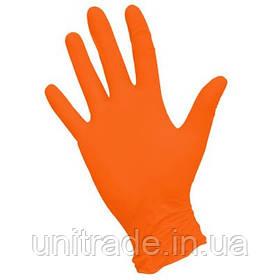 Рукавички нітрил помаранчеві 100шт(50 пар розмір М