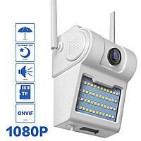 Наружная камера видеонаблюдения Unitoptek D2-R Wi-Fi(1080p, ночная съемка, датчик движения, влагозащита IP66)